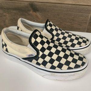 VANS classic slide on sneaker checkered  black 5